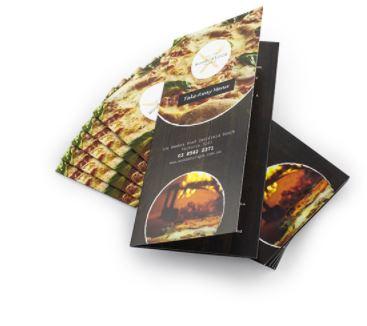 Menu gấp 3 - In menu giá rẻ TPHCM