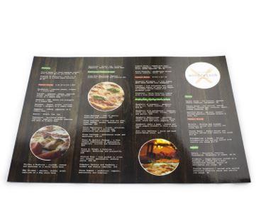 Menu phẳng - In menu giá rẻ TPHCM