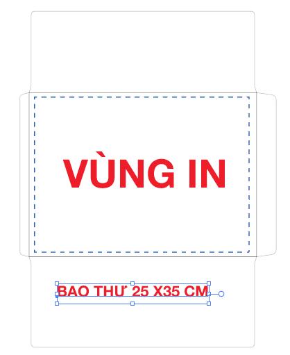 in bao thư 25 x 35 cm giấy Fort 100Gsm