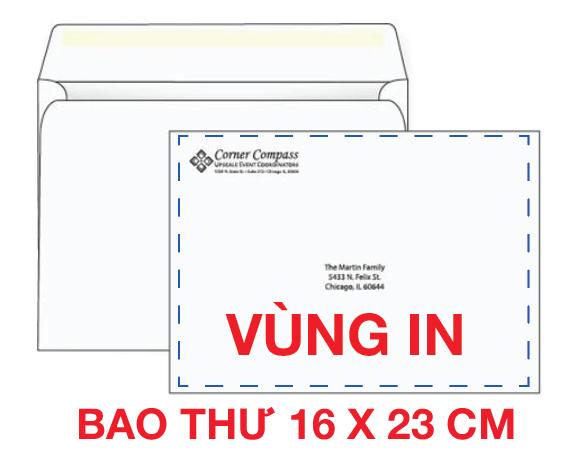 In bao thư 16 x 23 giấy Fort 100Gsm Ngang