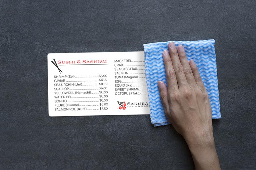 Cách vệ sinh menu nhựa